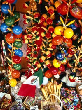 Handicrafts on Sale in Olvera Street, Los Angeles, USA by Rick Gerharter