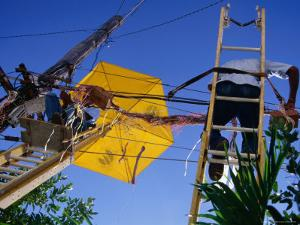 Men Repairing Telephone Lines, Havana, Cuba by Rick Gerharter