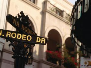 Rodeo Drive Street Sign in Beverley Hills, Los Angeles, USA by Rick Gerharter
