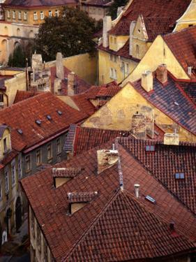 Rooftops of Houses, Prague, Czech Republic by Rick Gerharter