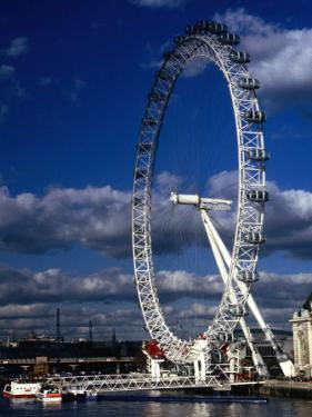 The Millennium Eye and Thames River, London, United Kingdom by Rick Gerharter