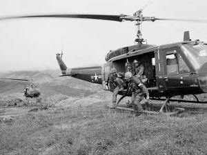 Vietnam War U.S. Troops HU1 Huey by Rick Merron