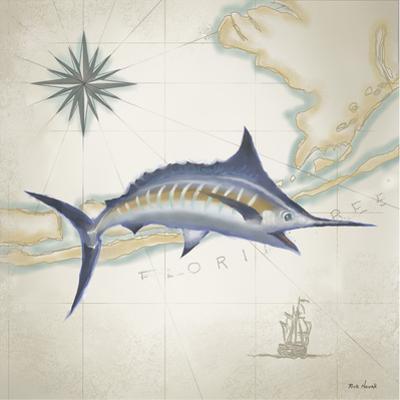 Sailfish Map I by Rick Novak