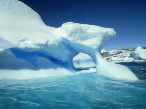 Blue Ice Stripe in Iceberg, Antarctic Peninsula by Rick Price