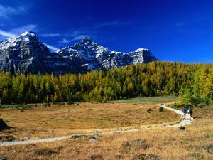 Hikers in Larch Valley, Banff, Canada by Rick Rudnicki