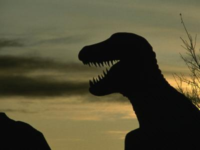 Life Size Dinosaur Replica at Prehistoric Dinosaur Park, Calgary Zoo, Calgary, Canada