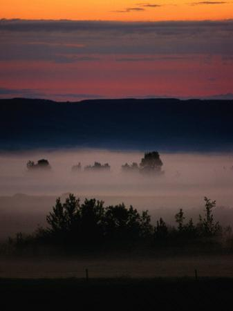 Mist Over Countryside, Calgary, Canada