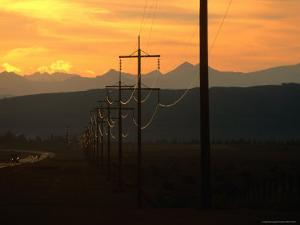 Powerlines at Sunset, Canada by Rick Rudnicki