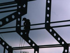 Worker on Construction Site, Canada by Rick Rudnicki