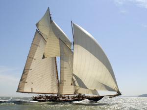 Mariette under Sail, Solent Race, British Classic Yacht Club Regatta, Cowes Classic Week, 2008 by Rick Tomlinson