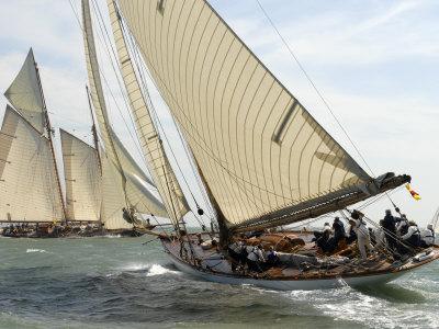 Mariquita under Sail, Solent Race, British Classic Yacht Club Regatta, Cowes Classic Week, 2008