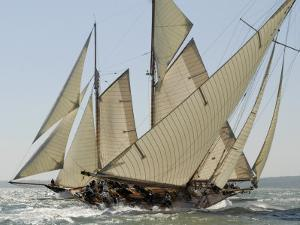 Mariquita under Sail, Solent Race, British Classic Yacht Club Regatta, Cowes Classic Week, 2008 by Rick Tomlinson