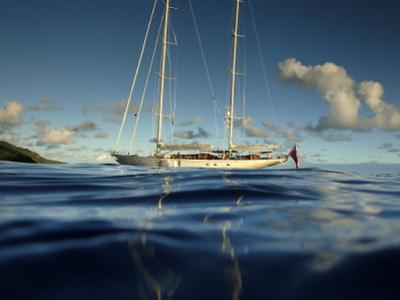 "Sy ""Adele"", 180 Foot Hoek Design, Anchored Off the Coast in French Polynesia, 2006"