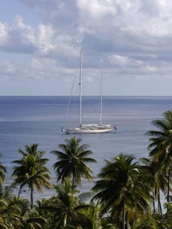 "Sy ""Adele"", 180 Foot 'Hoek' Design, Motoring Off an Island in French Polynesia"