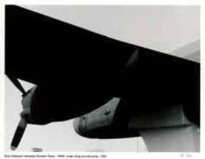 Canadian Bomber Plane - WWII Under Wing and One Prop by Rick Zolkower
