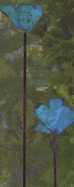Teal Poppies III by Ricki Mountain