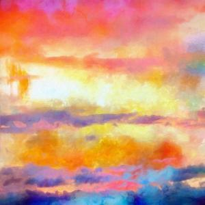 What a Color Art Series Abstract by Ricki Mountain