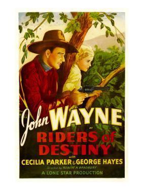 Riders of Destiny, John Wayne, Cecilia Parker, 1933