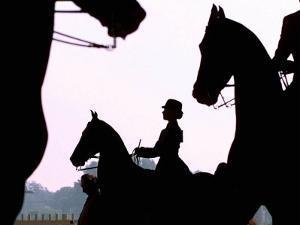Riders Practice Their Skills