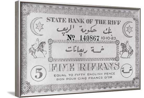 Riff Paper Money--Framed Photographic Print