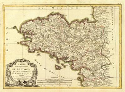 Bretagne, c.1786 by Rigobert Bonne