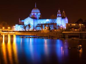 Galway Cathedral Lit Up Blue by rihardzz