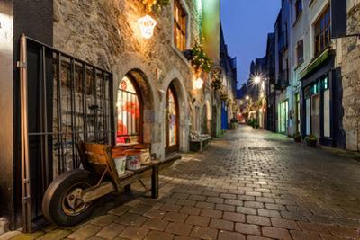 Old City Street At Night by rihardzz