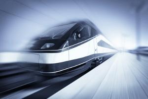 Train in Motion, Monochromatic by rihardzz