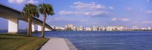 Ringling Causeway Bridge, Sarasota Bay, Sarasota, Florida, USA