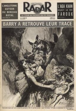 In Savoie France the German Shepherd Dog Barry Finds His Mistress and Her Child by Rino Ferrari