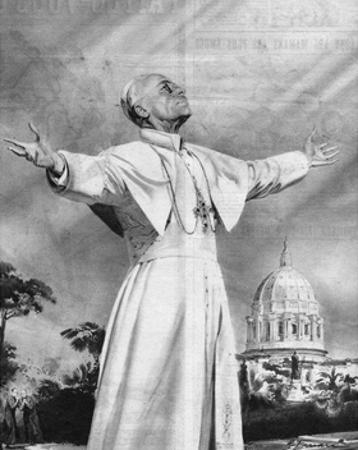 Vision of Pius XII by Rino Ferrari