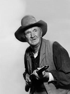 Rio Bravo by Howard Hawks with Walter Brennan, 1959 (b/w photo)