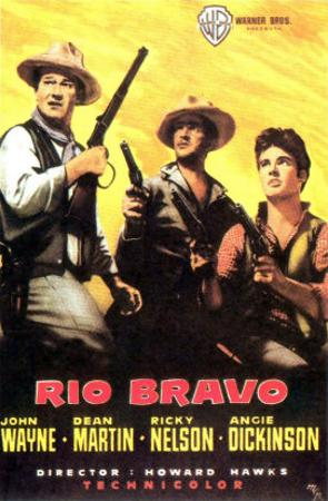 Rio Bravo, Spanish Movie Poster, 1959