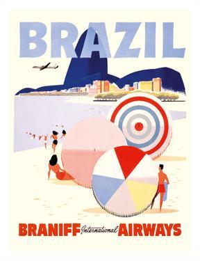 Rio de Janeiro Brazil - Braniff International Airways
