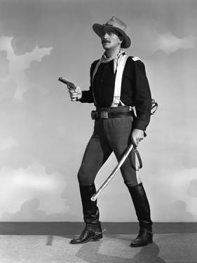 RIO GRANDE, 1950 directed by JOHN FORD John Wayne (b/w photo)