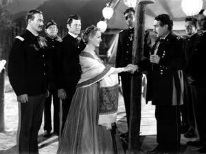 RIO GRANDE, 1950 directed by JOHN FORD John Wayne, Maureen O'Hara and J.Carrol Naish (b/w photo)