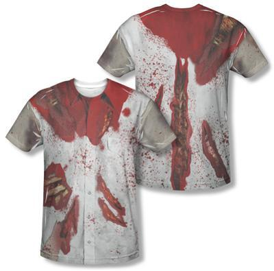 Ripped Zombie Costume Tee (Front/Back Print)
