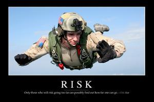 Risk: Inspirational Quote and Motivational Poster