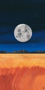 Prarie & Moon by Rita Mangano