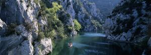 River Flowing Between Mountains, Verdon River, France