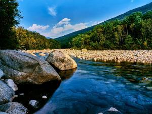 River flowing through a forest, Swift River, Kancamagus Highway, White Mountain National Forest...