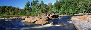 River Flowing through the Forest, Moose River, Adirondack State Park, New York, USA