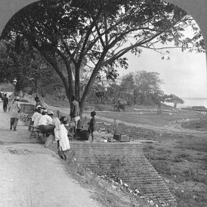 River Front and Bank, Bhamo, Burma, 1908