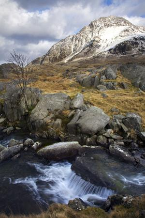 River Idwal with Tryfan Covered in Snow March