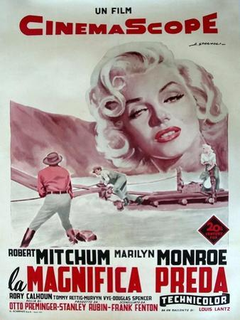 River of No Return, Italian Movie Poster, 1954
