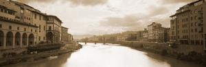 River Passing Through a City, Arno River, Florence, Italy