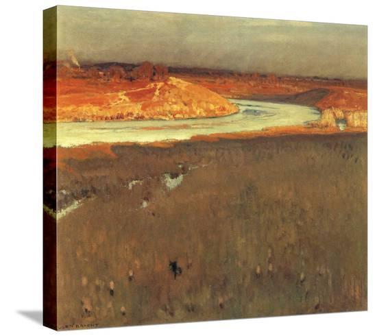 River Spree-Eugen Bracht-Stretched Canvas