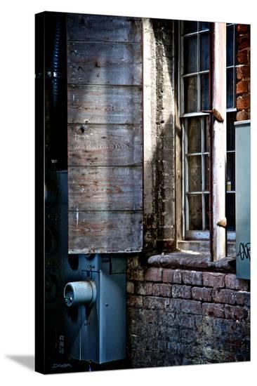 River Walk Window-Elizabeth St^ Hilaire Nelson-Stretched Canvas