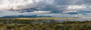 River with Teton Range in the background, Grand Teton National Park, Wyoming, USA