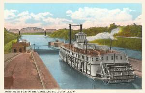 Riverboat in Locks, Louisville, Kentucky